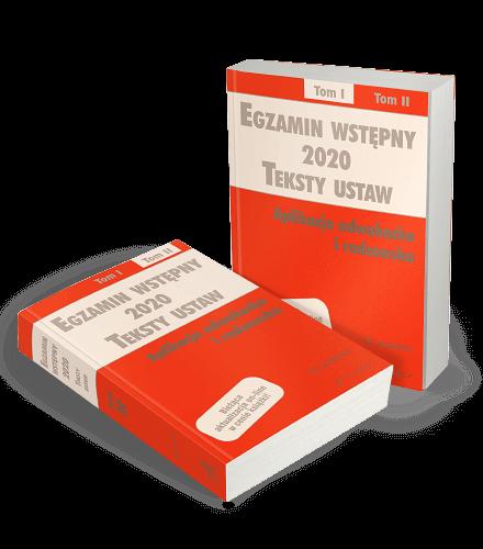 Egzamin wstępny - Teksty ustaw